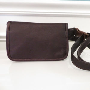 CLAVA American Brown Leather Waist Wallet